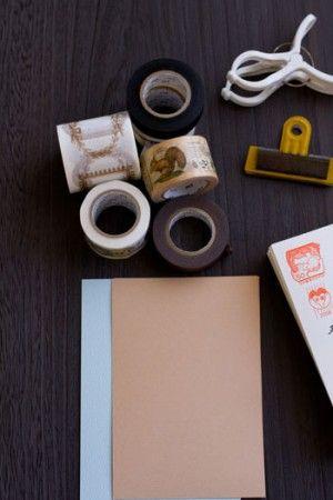 マスキングテープで、いただいた年賀状を簡易製本