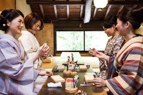 普段着物で楽しむ京都その2  ~つまみ細工体験~