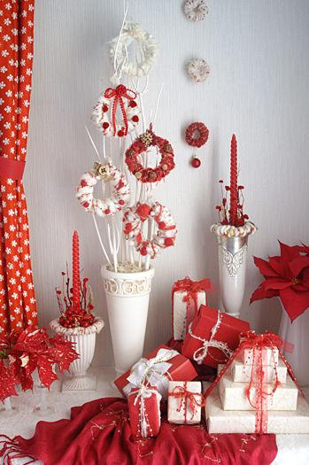 ◆クリスマスNo.14 毛糸で作るふわふわミニリース