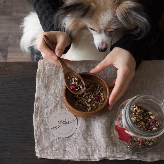 愛犬のバレンタインレシピ♪ キャロブの手作りグラノーラ