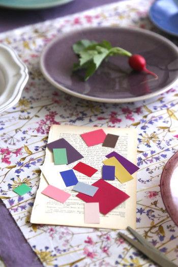 クロスや器の色から抽出した カラーパレット。