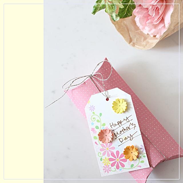 お花の絵はがきで!母の日のプレゼント・タグを簡単手作り