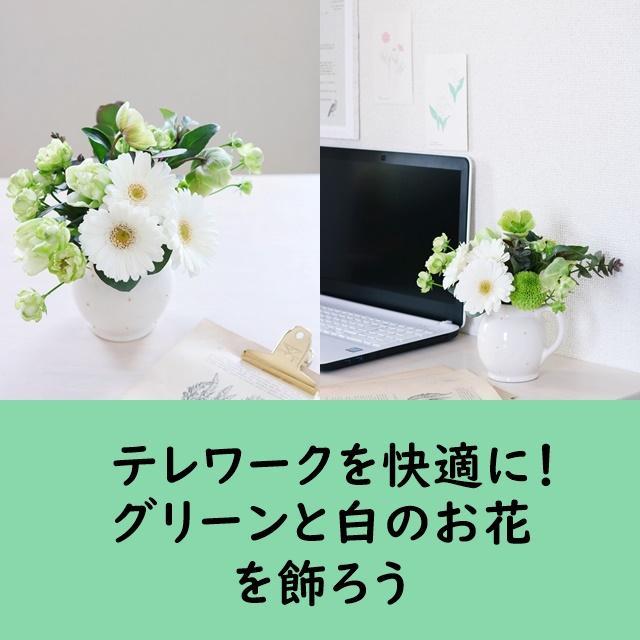 【色彩心理】テレワークを快適に!グリーンと白のお花を飾ろう