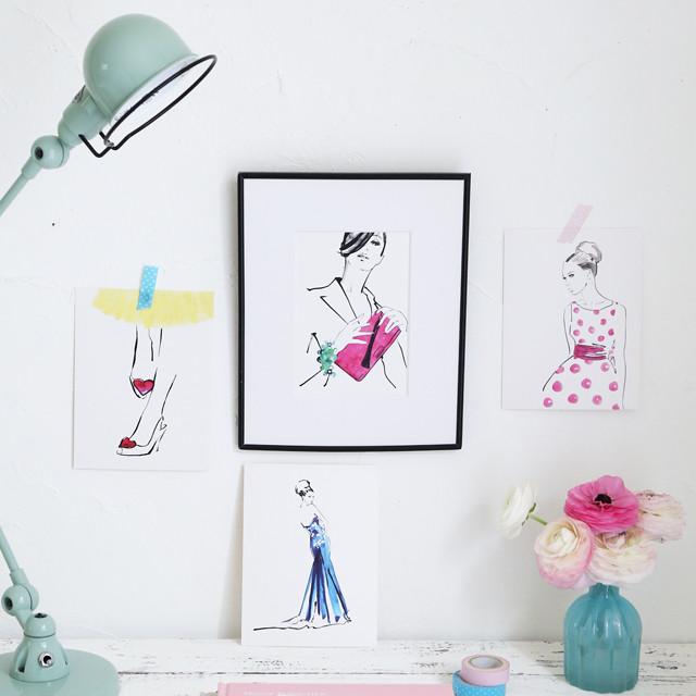 IKEAのアートカードで春の模様替え♪ モノトーンからパステルへ