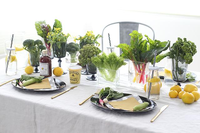 SNS映えする簡単テーブルコーディネート♪  おしゃれ野菜を取り入れて