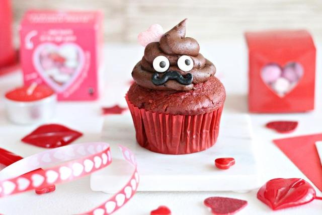 バレンタイン カップケーキ うんち