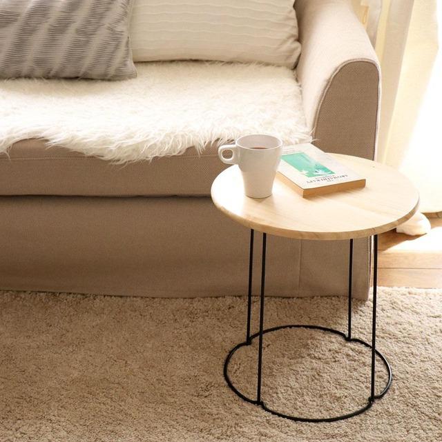 IKEAのケーキ台をDIY 簡単サイドテーブルの作り方