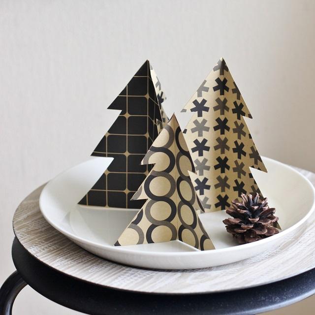 100均折り紙で簡単おしゃれ♪ クリスマスツリーの作り方