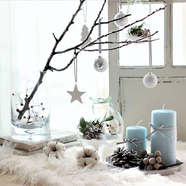 クリスマス飾りを簡単リメイク!雪景色ディスプレイとテラリウム・クリスマスバージョン