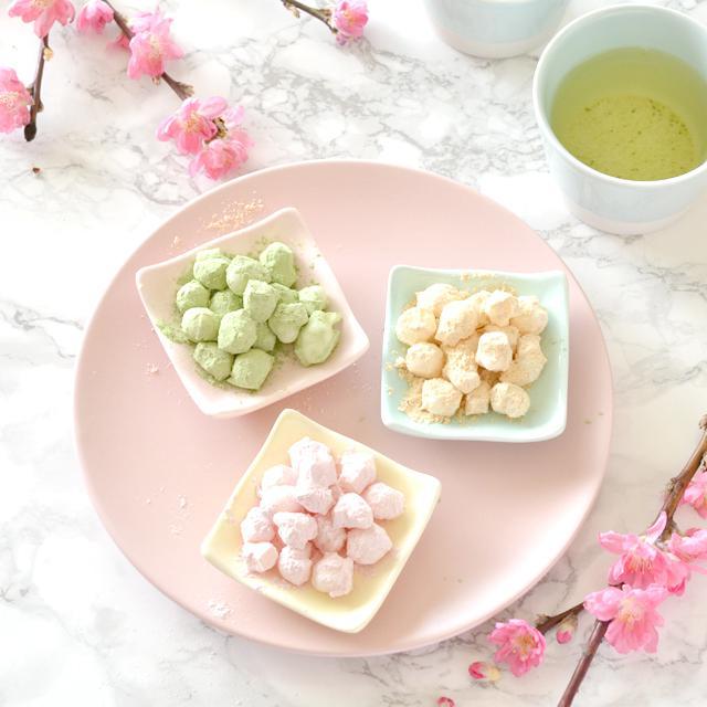 余った餅を簡単リメイク☆3色ひなあられの作り方