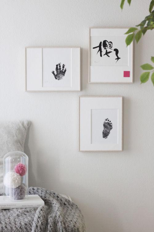 お誕生記念や成長記念に! 手形や足形で作るアートフレーム
