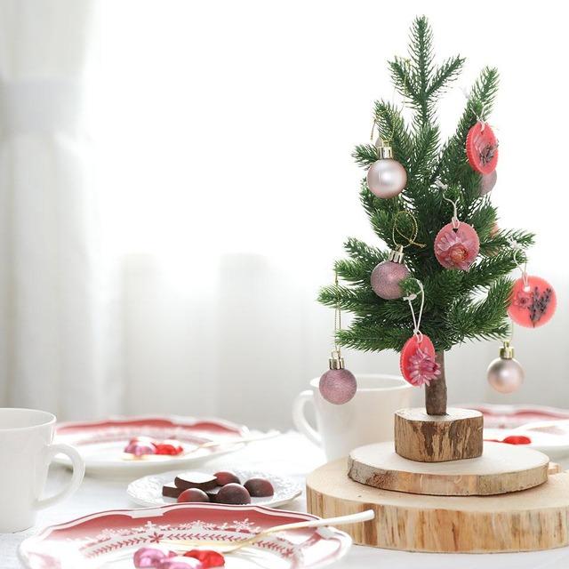 ダイソー アロマキャンドル クリスマス ツリー オーナメント