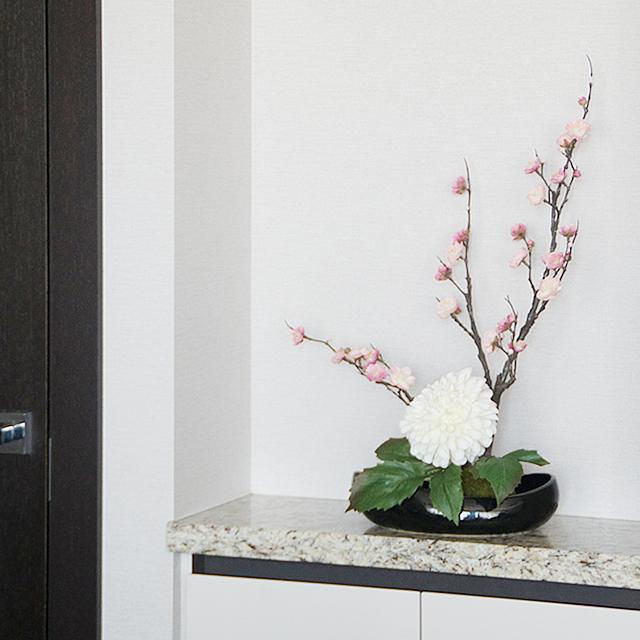 造花で簡単いけばな! 梅の花にダリアを合わせて自由な発想で