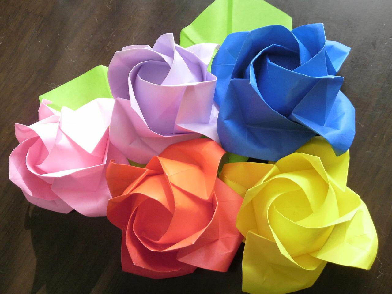 すべての折り紙 折り紙 バラの花束 : ウェディングプランナーミュウ ...