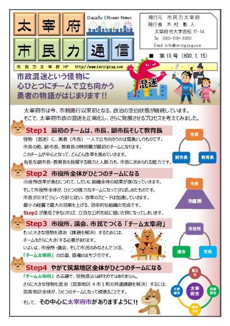 市民力通信(第18号)表