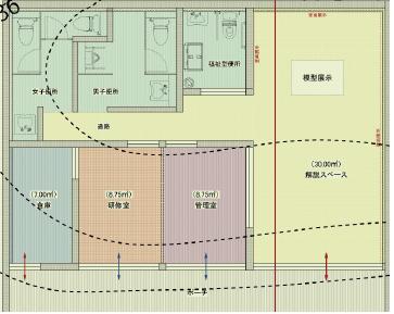 水城便益施設(平面図)