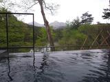 裏磐梯を温泉から眺める贅沢