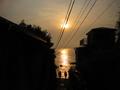 江ノ島から見た夕陽
