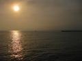 江ノ島に向かう橋からみた海