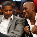 Denzel Washington and Tyrese Gibson