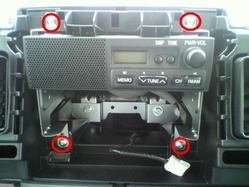 ミニキャブ オーディオパネルの取り外し方法3