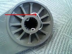 ミニキャブ 窓開閉レバーの取り外し方法2