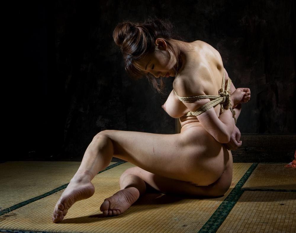 緊縛 女侠客 緊縛  美しい女性の緊縛美、横乳の綺麗な女