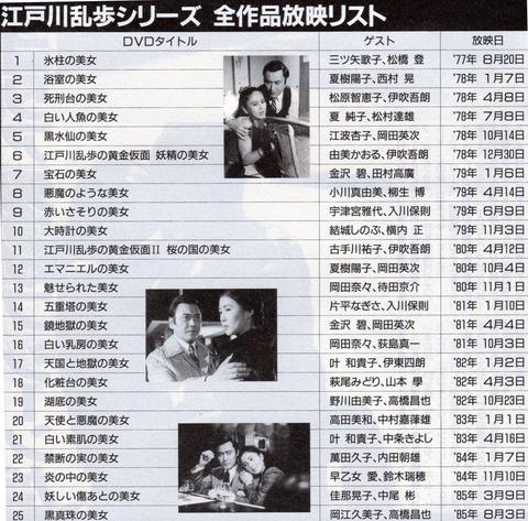 (421) 浴室の美女 (6)00江戸川乱歩シリーズ放映リスト