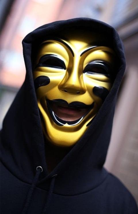 ベネチアンマスクの男