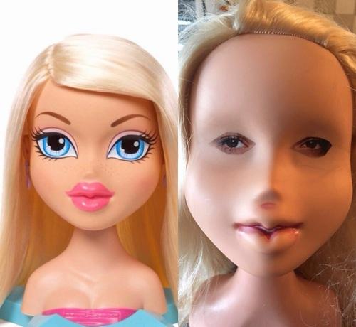 """おもちゃの人形の""""すっぴん""""に反響"""