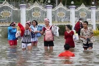 台風1号、タイで5人死亡 初めて元日に発生
