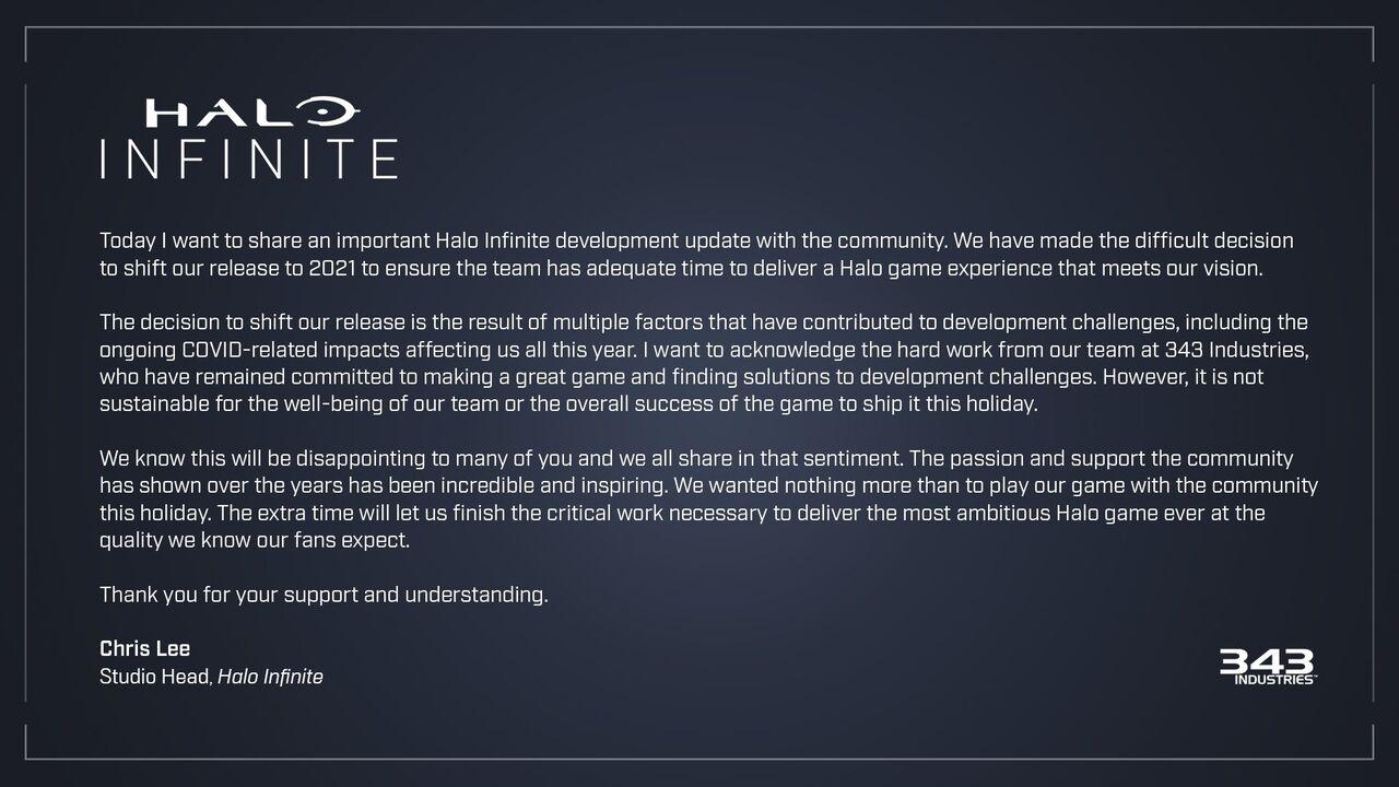 【悲報】Halo Infinite、2021年に延期wwwwwwwww