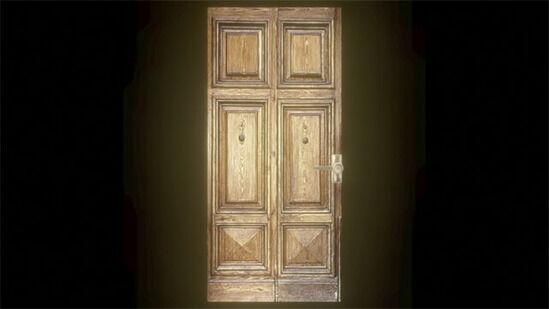 バイオハザードのドアをゆっくり開ける演出