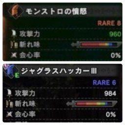 【MHW】「モンストロの憤怒→火力スキル」「ジャグラスハッカー→生存スキル」←これどゆこと?