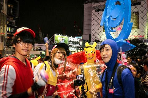 一昨日の渋谷のハロウィンの光景がこちらwwwww