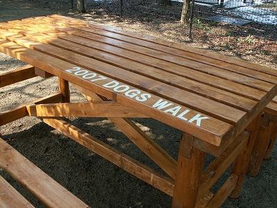 ドッグスウォークの寄付金で寄贈した机と椅子