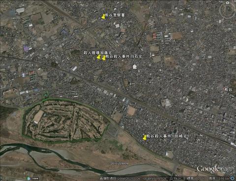 熊谷殺人事件地図