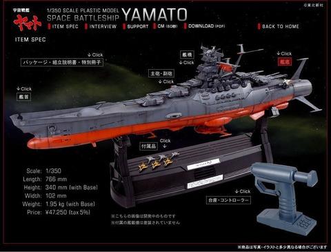 バンダイ宇宙船間ヤマト1/350 2