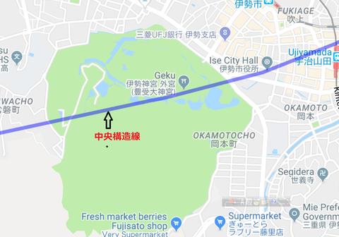 伊勢神宮外宮中央構造線