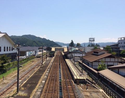 君の名は。飛騨古川駅ホーム