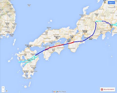 中央構造線西日本