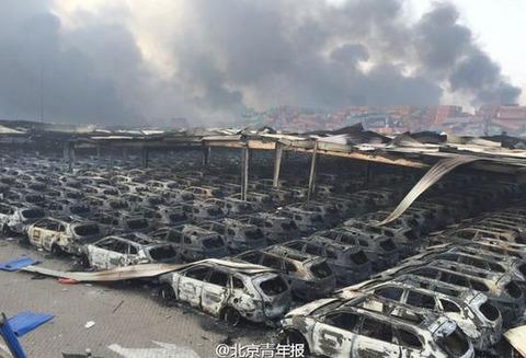 天津大爆発北側ストック場