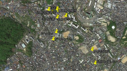 神戸小1殺人事件マップ
