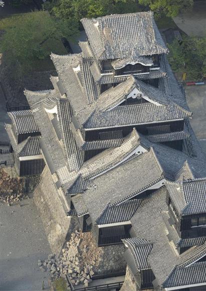 熊本大地震熊本城1