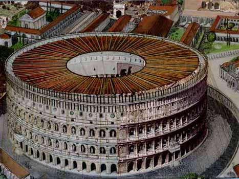ローマコロッセウム天幕