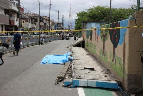 大阪地震ブロック塀3