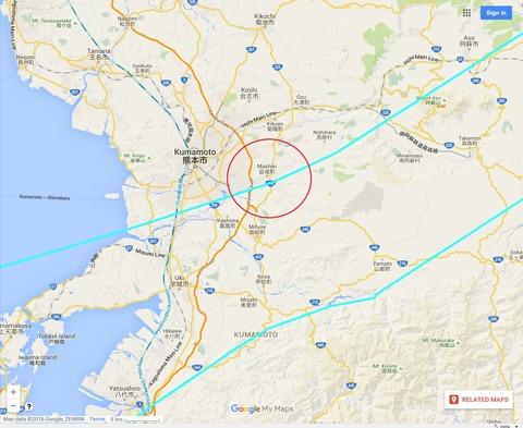 中央構造線九州熊本市