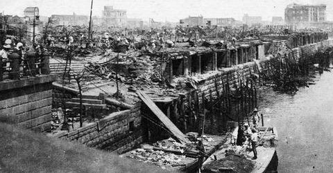 日本橋魚河壊滅