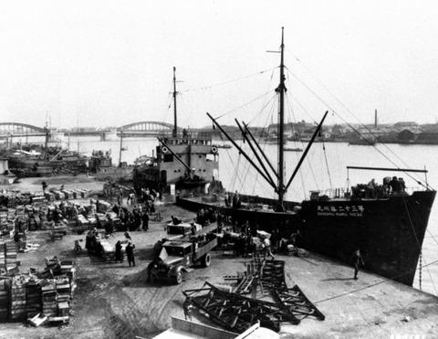 築地市場桟橋昭和47年