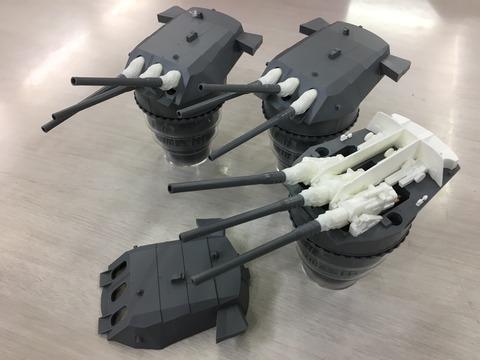 フジミ模型大和主砲5